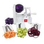 Paderno World Cuisine A4982799 TriBlade Vegetable Spiral Slicer.