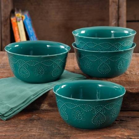 The Pioneer Woman Dinnerware Bowls in Teal