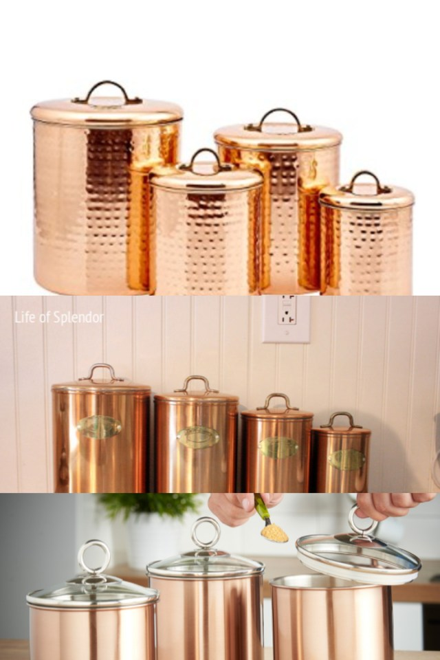 1deb905339d1 copper kitchen containers - copper kitchen canisters - copper canister sets