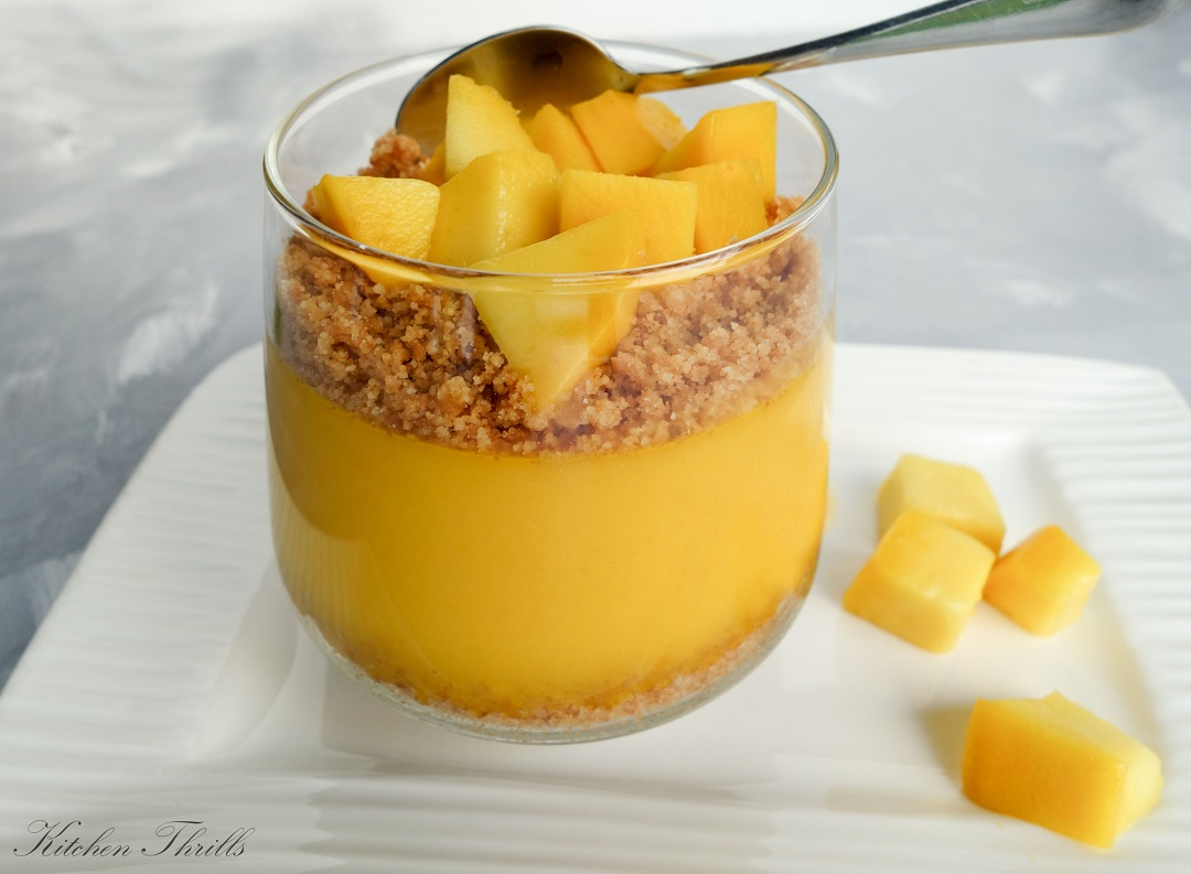 A quick and easy dessert recipe to satisfy your sweet tooth. This simple mango pudding is a smooth and silky make ahead dessert perfect for the summer season.