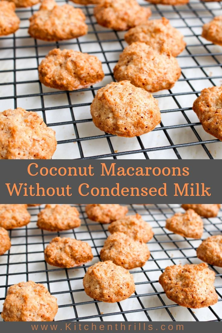 These homemade coconut macaroons make the best Christmas recipe for easy gluten free dessert. These delicious coconut cookies taste irresistible when dipped in melted chocolate.