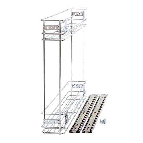 150mm Slide Pull Out Wire Basket Kitchen Larder Base Unit