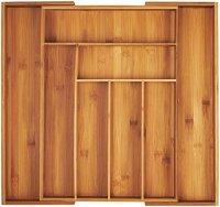 AmazonBasics Bamboo Expandable Kitchen Utensils Drawer