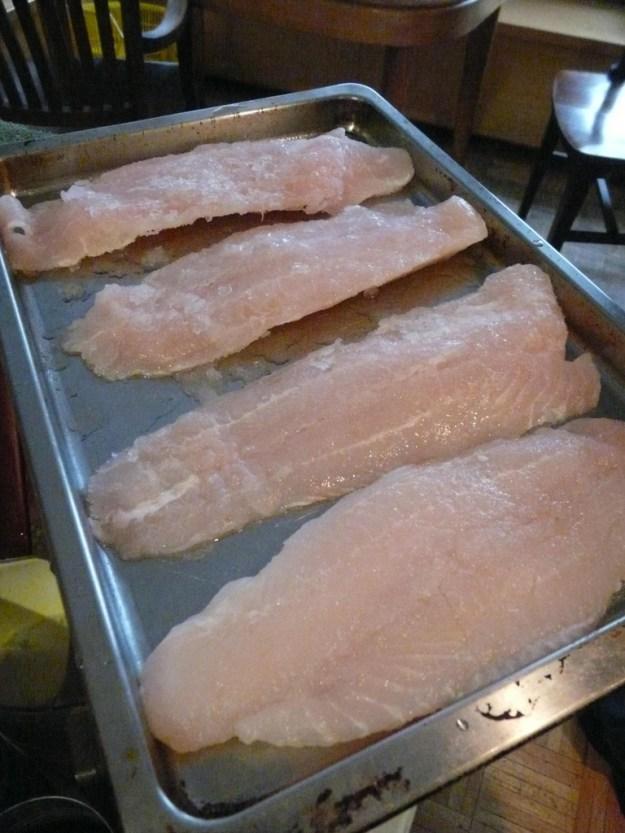 defrosting fish fillets