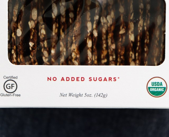 label with certified organic label and certified gluten free