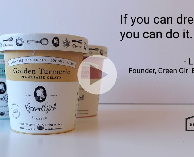 video preview image with ice cream pints, green girl bakeshop