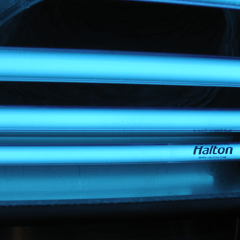 Why are Ultraviolet lights or UV-C lights used for in commercial kitchens