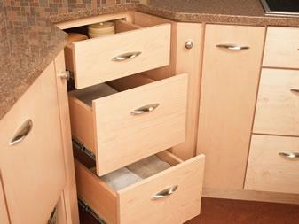 Merillat's New CornerStore Corner Access Storage Cabinets Kitchen