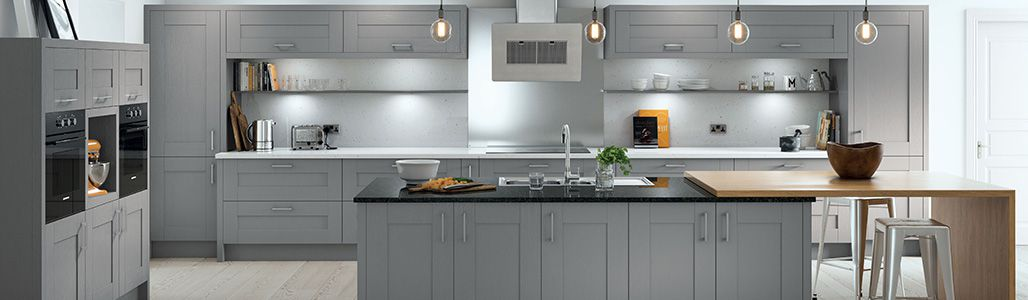Luxury Shaker Dust Grey Kitchen Units Kitchen Warehouse Uk