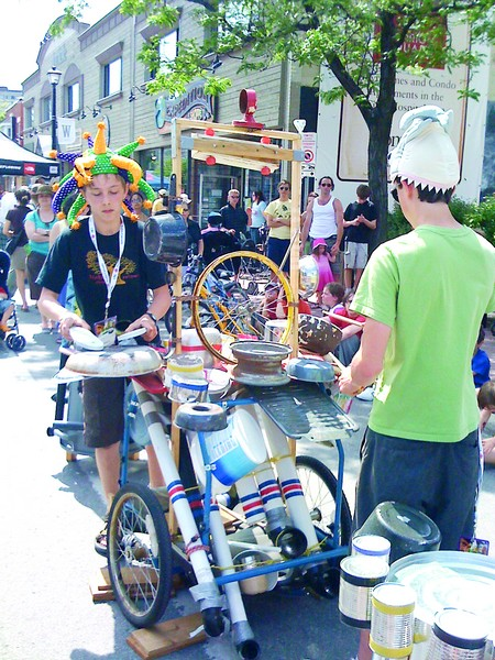Lively buskers are a highlight of the closed streets of Westboro during Westfest.