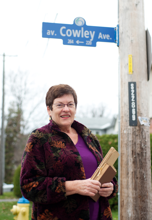 Christine Jackson author of The Cowley Family Saga: from Sherwood Forest to the NHL–Part 1. Photo by Kate Settle