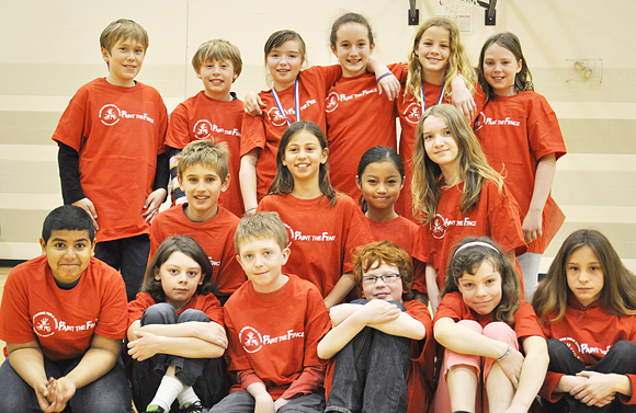 Grade 5 students at Hilson Avenue Public School helped organize the event and learned about a variety of jobs along the way. Back row: Rowan Bell Petrusic, Reilly Newman, Ella Hopkins-Bryan, Emily Jones, Sophie Jones, Grace O'Malley.<br />Middle row: Eric Karpovits, Maelyn Kaya, Heidy Thaw, Marie Babineau.