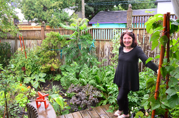 Hintonburg artist Wendy Feldburg's passion is rooted in her garden. Photo by Jack Lawson.