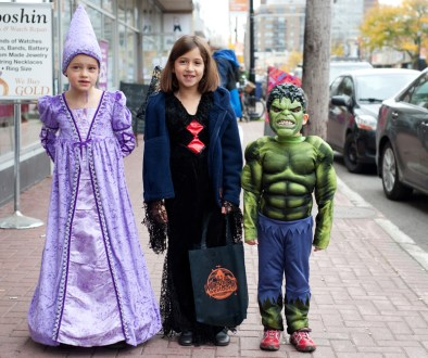 Westboro's Claire Anglesey (7), introduces friends Sophie (8), and Oliver Nivet (4), to Wickedly Westboro