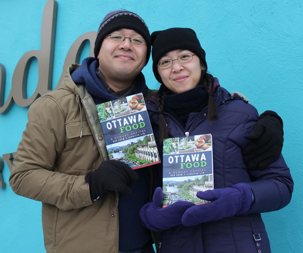 Don Chow and Jennifer Lim are the authors of Ottawa Food – A Hungry Capital. Photo by Paula Roy