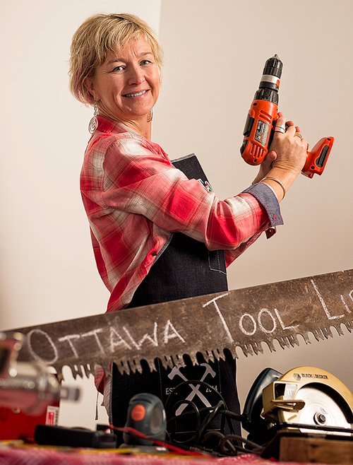 Bettina Vollmerhausen is building the first Tool Library in Ottawa.Photo by Ted Simpson