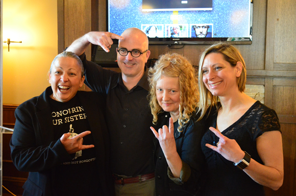 Westfest founder Elaina Martin, Kitchissippi Councillor Jeff Leiper, and surprise guests Kris + Dee ushered in Westfest's official lineup at the Clocktower Brew Pub. Photo by Jack Lawson.