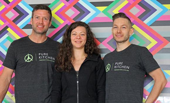 Dave Leith, Olivia Cruikshank, and Kyle Cruikshank of Pure Kitchen. Photo by Paula Roy.