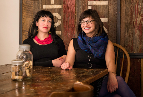 "Hintonburg Happening organizers Summer Baird and Alisa Viner. This year's Happening is taking place May 1 to 9, in ""real life"" and online. Photo by Ted Simpson."