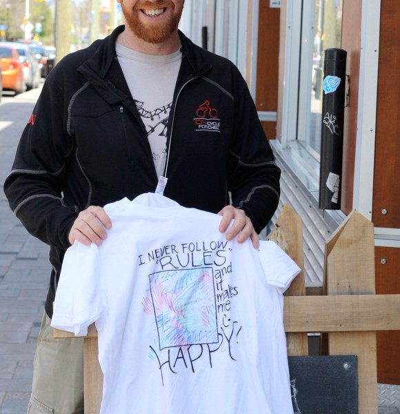 Shawn MacDonnell, the creator of the Air Your Dirty Laundry project. Photo by Anita Grace.