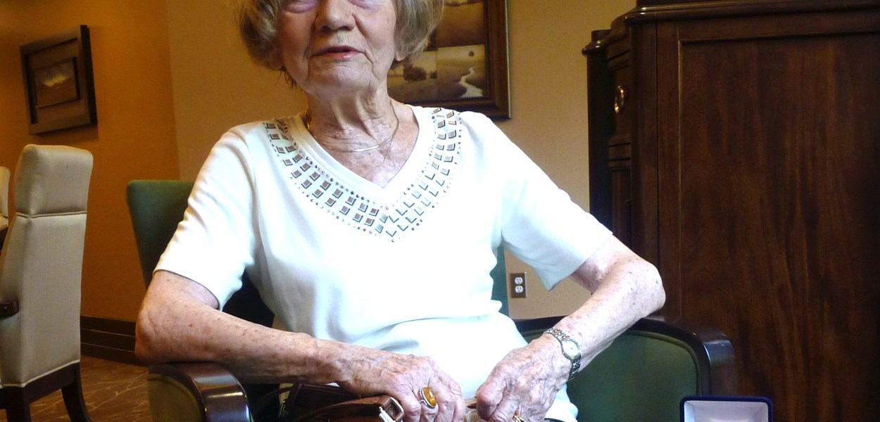 Irena Szpak was awarded a medal for her part in the Warsaw Uprising. She's currently working on her second book.