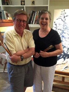 Organizers Barbara Zuchowicz and David W. Jones are getting ready for the 20th anniversary of the West End Studio Tour. Photo by Andrea Tomkins