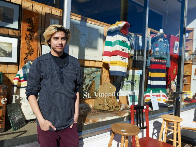 St. Vincent de Paul has been a part of the Kitchissippi community for 50 years. This thrift shop has gained attention recently with the help of eyecatching window displays and some new ideas. Photo by Ellen Bond