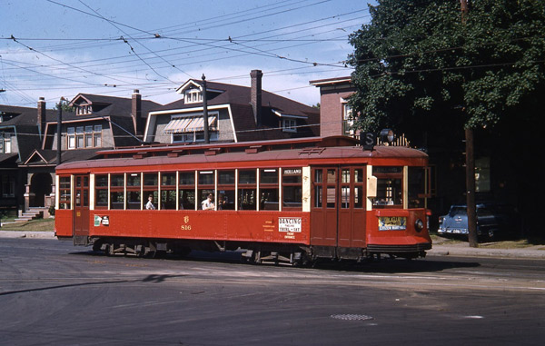 Did you know that Byron Linear Park used to have a streetcar running through it? This photo was taken on Holland near Byron in July 1955. Courtesy of Dave Allston