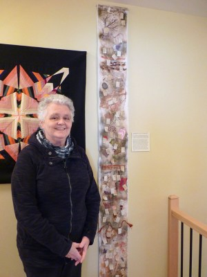 Fibre artist Nancy Garrard is one of the artists who will be showing their work at the Out-of-the-Box Fibre Artist's Fibre Fling on April 8 and 9. Photo by Judith van Berkom