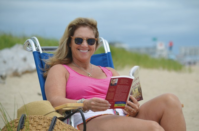 """""""When I go on vacation, I always have a book,"""" says Mary Taggart, Editor-in-Chief of Ottawa at Home magazine. Photo by Ken Fraser"""
