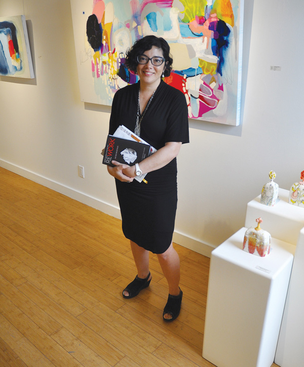 """Art enriches your life. Cognitively, we need to be sustained by the arts,"" says Patricia Barr of Wall Space Gallery."