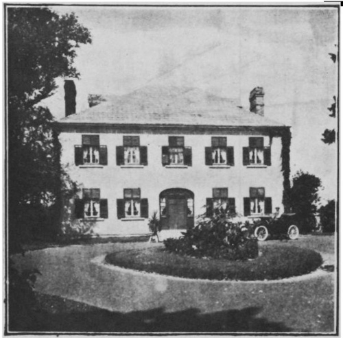 "This is what Maplelawn looked like in 1913. This image is from c booklet titled: ""Westboro: Ottawa's Westmount."" It shows the building with shutters and a new car parked in front."