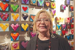 """""""I came out tonight to support my neighbourhood. I own an art gallery across the street and there are a lot of women who run businesses in this area and we all support each other for our events,"""" says Melodie Sadler."""