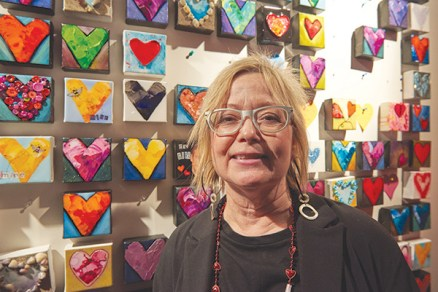 """I came out tonight to support my neighbourhood. I own an art gallery across the street and there are a lot of women who run businesses in this area and we all support each other for our events,"" says Melodie Sadler."
