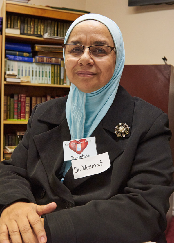 Dr.Neemat at the Ottawa Mosque Open House event. Photo by Ellen Bond