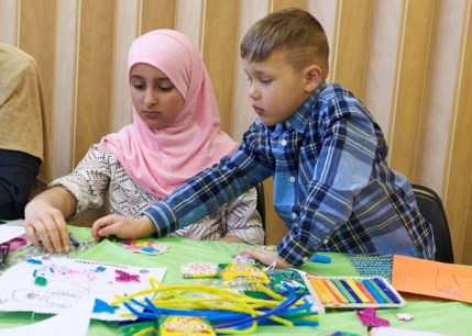 Kids at play, at the Ottawa Mosque open house event. Photo by Ellen Bond