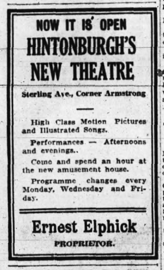 Ad from the Ottawa Journal from Feb. 23, 1910