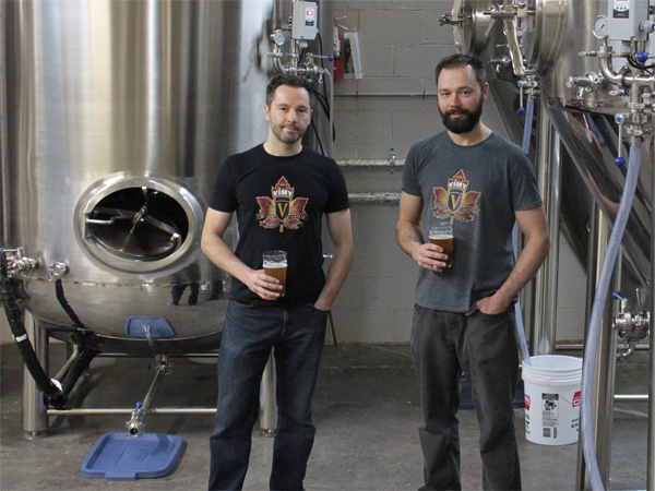 Kevin and Mike Sirko of Vimy Brewing Company. Photo by Jacob Hoytema