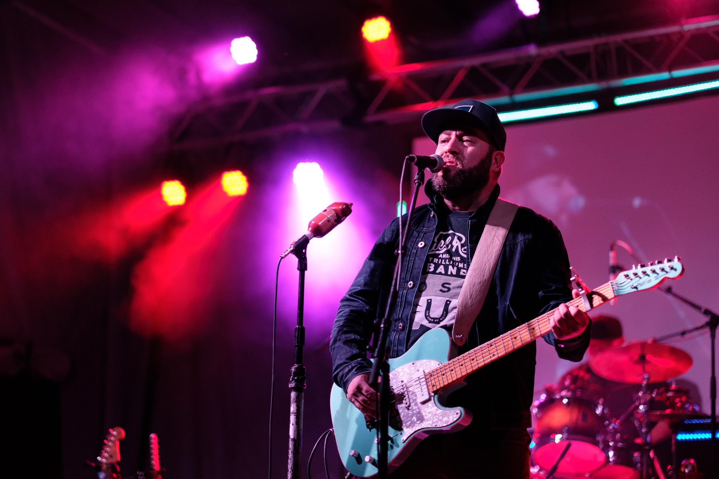 Steve Marriner of blues rock trio, Monkey Junk