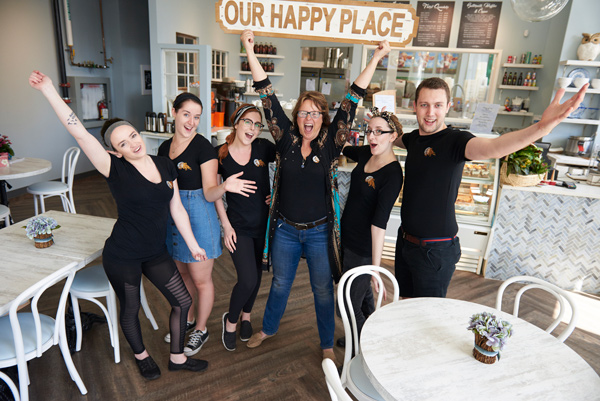 The folks at Stella Luna are pretty happy to be scooping up the sweet stuff for Kitchissippi residents. Chef Tammy Giuliani, is in the forefront. Photos by Ellen Bond