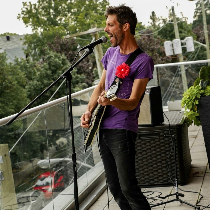 Jon Sims performing at last year's Porchfest. Photo supplied by Ken McKay