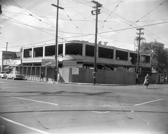 A never-before-seen photo of the Wesley building under construction in 1955. Photo courtesy of the City of Ottawa Archives (CA-25262)