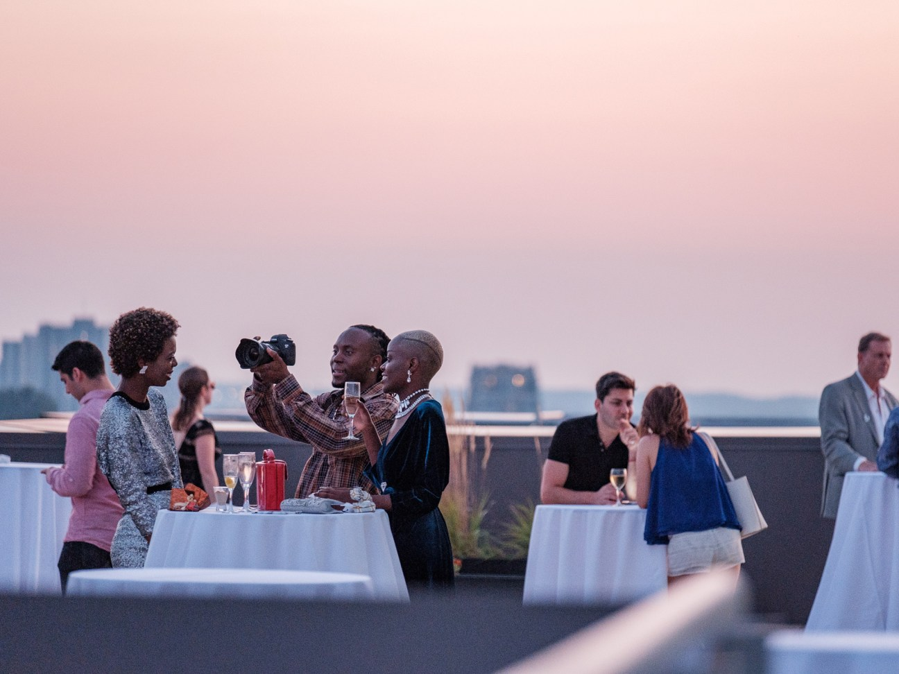 The rooftop VIP Lounge was a hit with showgoers, and the weather couldn't be better. Here, photographer Stenley Debrosse, captures moments.