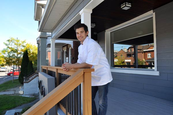Jason Sawision is the chef and owner of Stofa Restaurant, which opened on October 4 at 1356 Wellington St. W. Photo by Andrea Tomkins