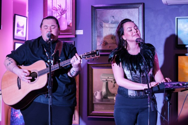 Musical performance from Yellowknife's Quantum Tangle closes out the All-Star Fundraiser and media launch on March 4. Photo by Ted Simpson