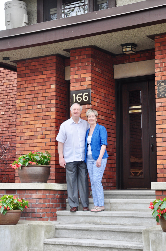 Greg Milanovich and Lori Gordon live in a Prairie-style heritage home on Huron Avenue. Photo by Andrea Tomkins