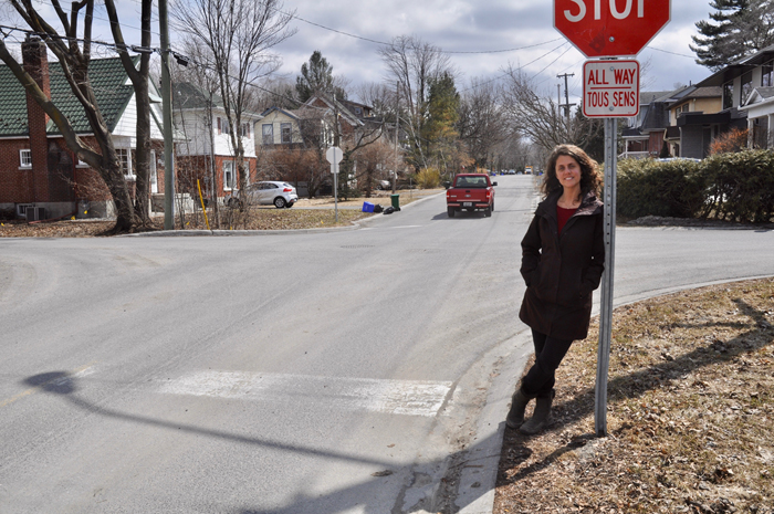 Gesa Harmston of Tweedsmuir Avenue was part of a group who successfully petitioned the City of Ottawa to have the speed limit on their part of the street reduced.