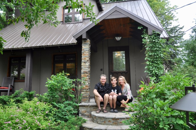 The Tremblay family at their Highland Avenue home. Photo by Andrea Tomkins
