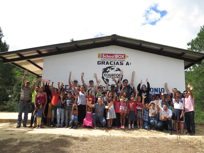 Pictured here is the November 2017 inauguration of the 'Gracias a Dios' School in San Juan de Rio Coco, in Northern Nicaragua. One of Equator's owners, Craig Hall, is in the middle of the photo. Photo courtesy of Jonathan Tam