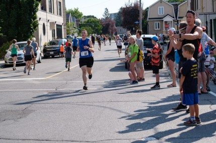 Alain Fortier on the way to a strong finish, 2nd in his category: 00:18:09.9